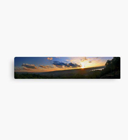 Ithaca NY Overklook Panorama Canvas Print