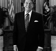 President Ronald Reagan In The Oval Office  by warishellstore