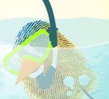 Two Scrambled Eggs - EGGscuba diving Sticker