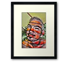 In a Childs Eyes Angle Stripes Framed Print