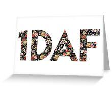 1D AF floral Greeting Card