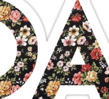 1D AF floral Sticker