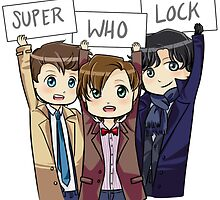 Chibi SuperWhoLock by ScissorCrazy