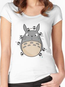 Little Totoro Women's Fitted Scoop T-Shirt