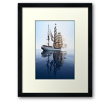 The Bark Europa and her Reflection Framed Print