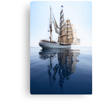 The Bark Europa and her Reflection Canvas Print