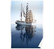 The Bark Europa and her Reflection Poster