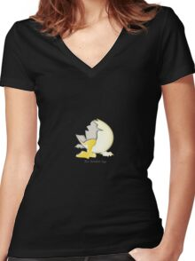Two Scrambled Eggs - The cracked EGG Women's Fitted V-Neck T-Shirt