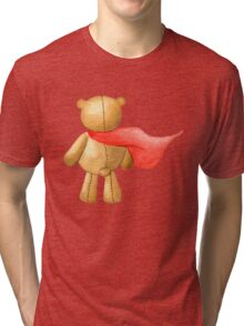 Watercolor Super Teddy Illustration Tri-blend T-Shirt