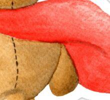 Watercolor Super Teddy Illustration Sticker