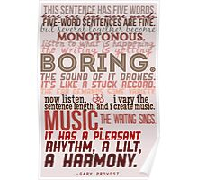 This Sentence has Five Words - Gary Provost Poster