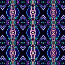 Tribal Visions Geometric Abstract Pattern 5 by Leah McNeir