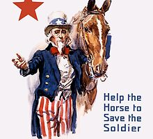 Help The Horse To Save The Soldier -- WWI Poster by warishellstore