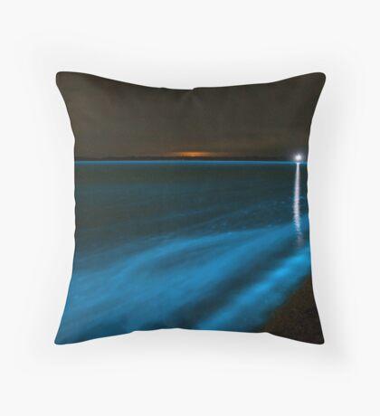 Bioluminescence on the Beach Throw Pillow