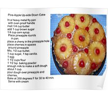 Pine-Apple Up-Side Down Cake Poster