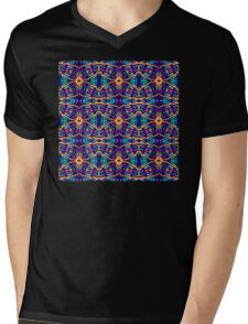 Tribal Visions Geometric Abstract Pattern 2 Mens V-Neck T-Shirt