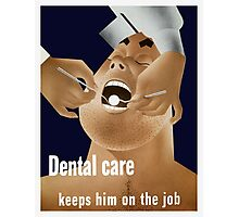 Dental Care Keeps Him On The Job Photographic Print