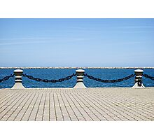 Cleveland Harbor Chained  Photographic Print