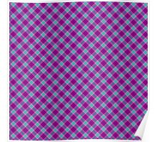 Purple and Teal Tartan Plaid Poster