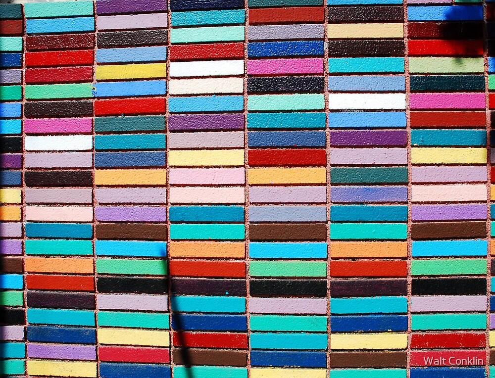 Colored Bricks by Walt Conklin