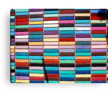 Colored Bricks Canvas Print
