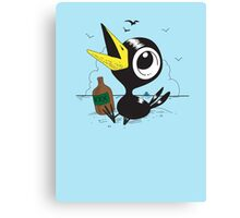 Drinky Crow! DOOK DOOK DOOK! Canvas Print