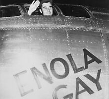 Paul Tibbets In The Enola Gay Bomber by warishellstore