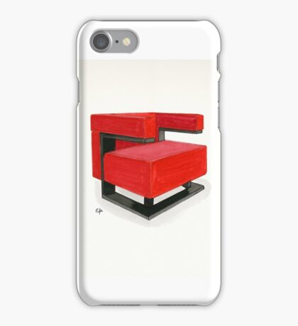 F-51 armchair - Watercolor painting   iPhone Case/Skin