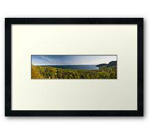 Canadian Border. Framed Print