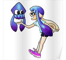 Squid and Inkling Poster