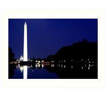 Washington DC - Reflection Pool Art Print