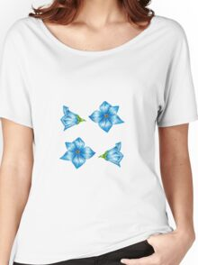 Blue Flowers Women's Relaxed Fit T-Shirt