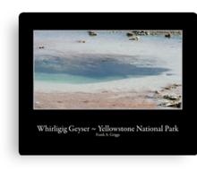 Whirligig Geyser Canvas Print