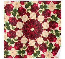 Old Red Rose Kaleidoscope 9 Poster