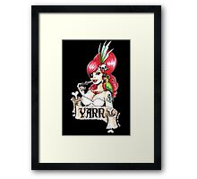 Pirate pinup 'Yarr!' Framed Print