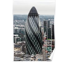 The Gherkin (30 St. Mary Axe), London, United Kingdom Poster