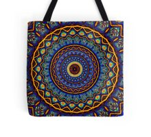 Kaleidoscope 4 abstract stained glass mandala pattern Tote Bag