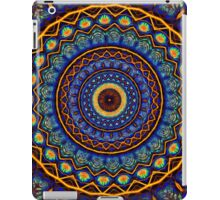 Kaleidoscope 4 abstract stained glass mandala pattern iPad Case/Skin