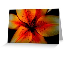 Open flower Greeting Card