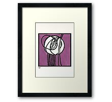 Rosebud Glass Panel by Charles Rennie Mackintosh - Watercolor Pa Framed Print