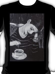 Woman with Coffee T-Shirt