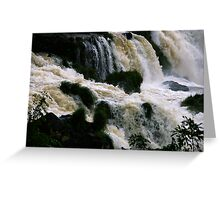 Iguassu Falls - close up Greeting Card