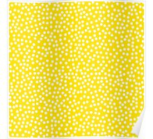 Classic baby polka dots in yellow. Poster