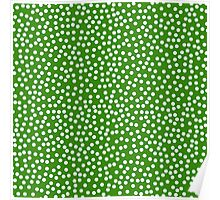 Classic baby polka dots in green. Poster