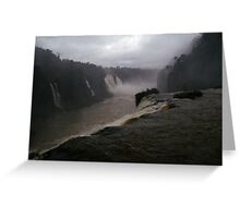Iguassu Falls - Brazilian side Greeting Card