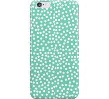 Classic baby polka dots in blue green. iPhone Case/Skin