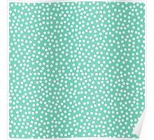Classic baby polka dots in blue green. Poster