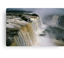 Iguassu Falls - Devils Throat aerial view - Brazilian side Canvas Print