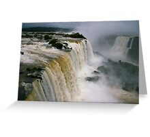 Iguassu Falls - Devils Throat aerial view - Brazilian side Greeting Card