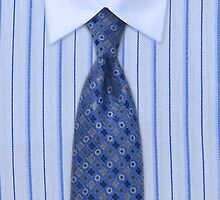 Mens Blue Pin Striped Shirt & Tie by HavenDesign